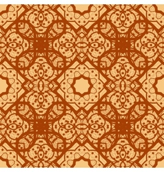 Arabian seamless background in brown color vinatge vector