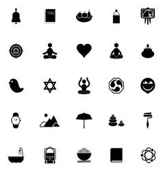 Zen society icons on white background vector