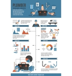 Plumber service infographic layout vector