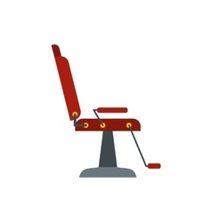Armchair hairdresser flat icon vector