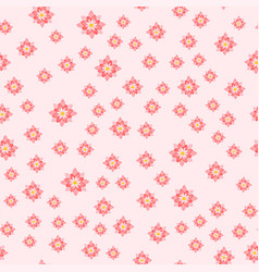 beautiful tropical flower seamless pattern design vector image