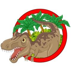 Cartoon big dinosaur vector