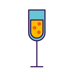 Champagne cup cartoon vector