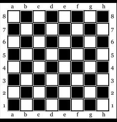 chessboard vector image vector image