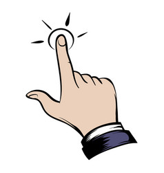 Click hand icon cartoon vector