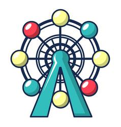 Ferris wheel icon cartoon style vector