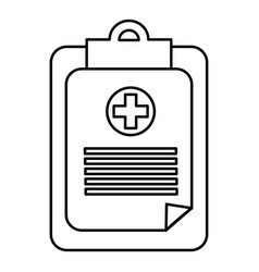 Figure hospital prescription pad icon vector