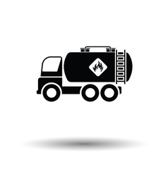 Fuel tank truck icon vector image