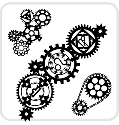 Gear Background Design - set vector image
