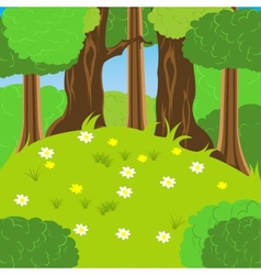 Glade in wood vector image vector image