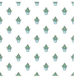 Hug cactus pattern seamless vector