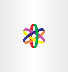 logo star colorful symbol icon vector image vector image