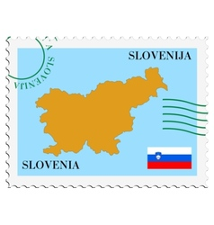 mail to-from Slovenia vector image vector image