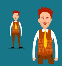 Office worker or clerk character flat vector