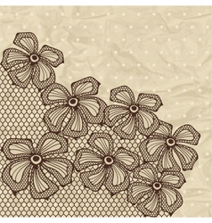 Old lace background ornamental flowers vector image vector image