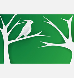 paper art of birds on the vector image vector image