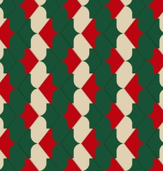 Retro 3D red green and yellow zigzag vector image