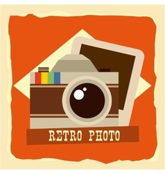 retro photo vector image