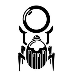 Scarab icon simple black style vector