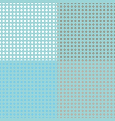 Seamless halftone dots vector