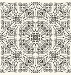 seamless vintage floral wallpaper vector image vector image