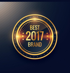 Years best brand golden label badge label design vector