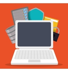 Data center and web hosting design vector