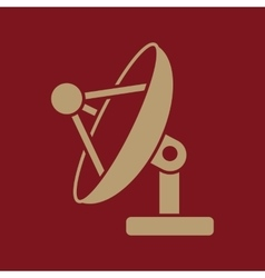 The satellite antenna icon communicate and vector