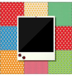 Digital scrapbooking photo frame vector