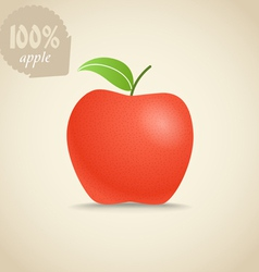 Cute fresh red apple vector