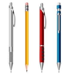 Pencil set vector