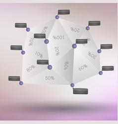 Light business diagram template vector