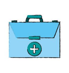 Medical briefcase vector
