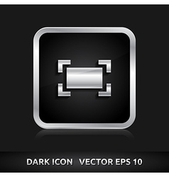 Zoom maximize icon silver metal vector
