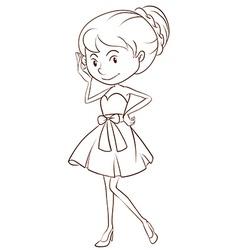 Girl in dress vector image