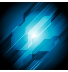 Dark blue hi-tech abstract design vector