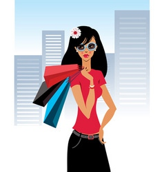 Shopaholic vector