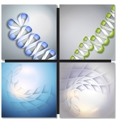 Abstract backgrounds with ribbons and squares vector
