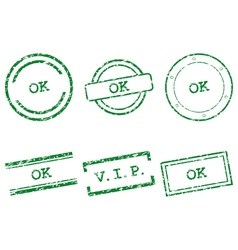 Ok stamps vector