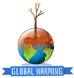 Global warming and sign vector