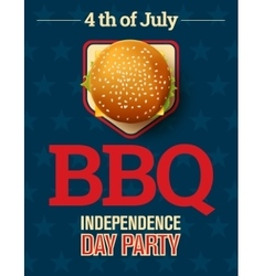Barbecue party invitation with cheeseburger and vector