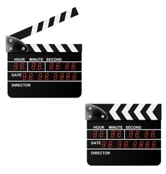 Digital movie clapper board on a white background vector