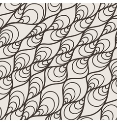 Seamless pattern of wavy lines and twisted vector