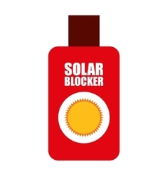 Solar bloquer isolated icon design vector