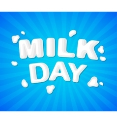 The original concept poster to advertise milk vector