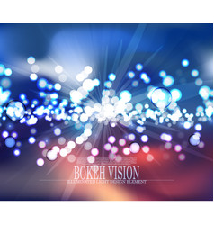 abstract bokeh vision background design iii vector image vector image