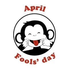 April 1 fools day cartoon icon vector
