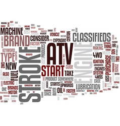 Atv classified text background word cloud concept vector