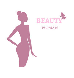 beauty logo template background with beautiful vector image vector image