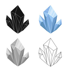 blue natural mineral icon in cartoon style vector image